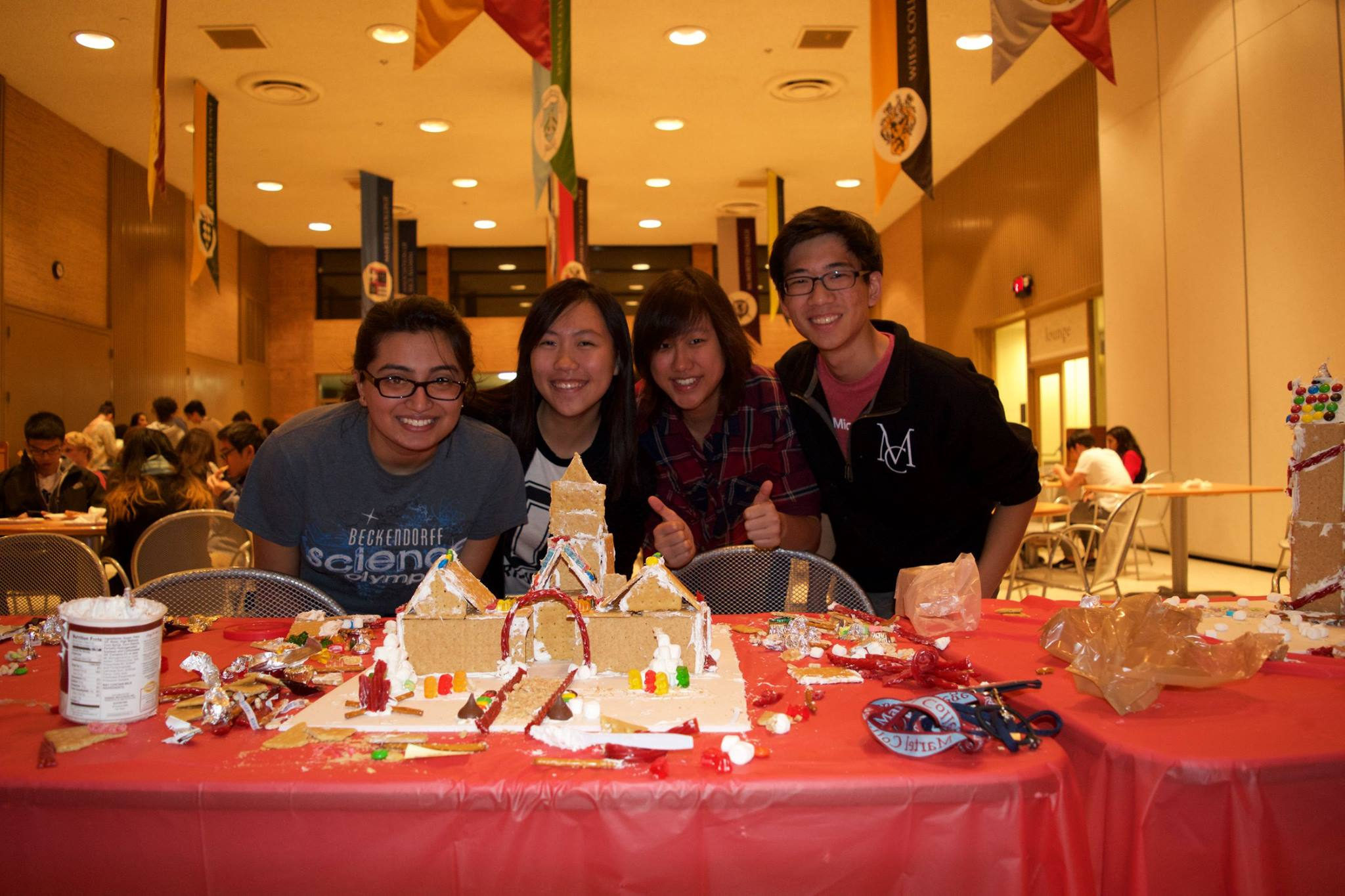 Gingerbread House Building Competition Rice Program Council